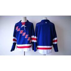 2017 Men NHL New York Rangers Adidas blue blank  jersey