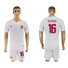 Men 2017-2018 club Rome away 16 white soccer jersey