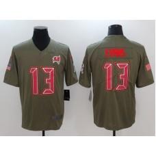 Men Tampa Bay Buccaneers 13 Evans Nike Olive Salute To Service Limited NFL Jerseys