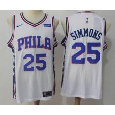 2017 NBA Men Philadelphia 76ers 25 Simmons white Nike Jersey