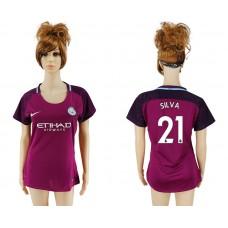 2017-2018 Club manchester city away aaa version women 21 soccer jersey