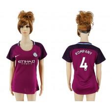 2017-2018 Club manchester city away aaa version women 4 soccer jersey