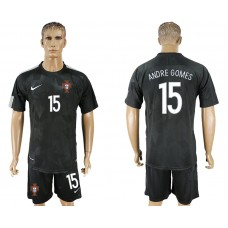 Men 2018 World Cup National Portuga away 15 black soccer jersey