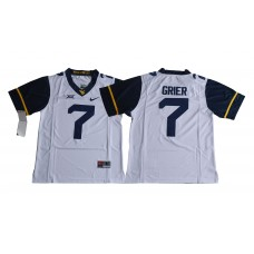 Men NCAA 2017 West Virginia Mountaineers 7 Will Grier white jersey