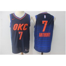Men Oklahoma City Thunder 7 Anthony Blue OKC NBA Jerseys
