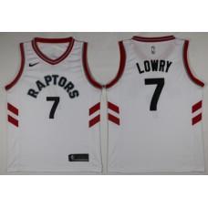 Men Toronto Raptors 7 Lowry White Game Nike NBA Jerseys