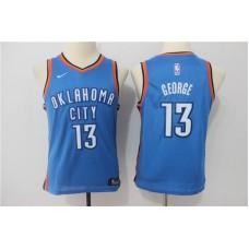 Youth Oklahoma City Thunder 13 George Blue Game Nike NBA Jerseys