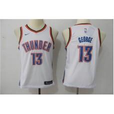 Youth Oklahoma City Thunder 13 George White Game Nike NBA Jerseys