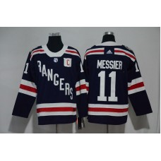 2017 Men NHL New York Rangers 11 Messier blue Adidas jersey