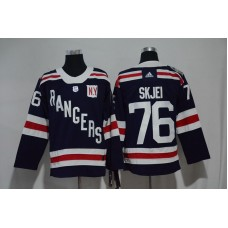 2017 Men NHL New York Rangers 76 Skjei blue Adidas jersey