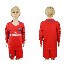 2017-2018 club Paris saint germain red goalkeeper Long sleeve youth soccer jersey