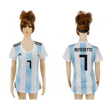 2018 World Cup Argentina home aaa version women 7 soccer jersey