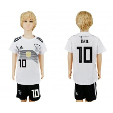 2018 World Cup Germany home kids 10 white soccer jersey