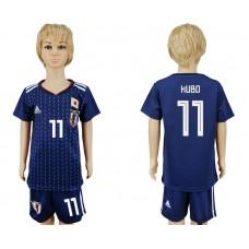 2018 World Cup Japan home kids 11 blue soccer jersey