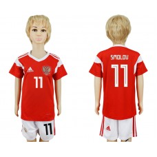 2018 World Cup Russia home kids 11 red soccer jersey