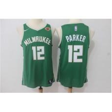 Men Milwaukee Bucks 12 Parker Green Game Nike NBA Jerseys