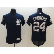 Men Detroit Tigers 24 Cabrera Blue Elite Spring Edition MLB Jerseys