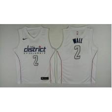 Men Washington Wizards 2 Wall White City Edition Nike NBA Jerseys