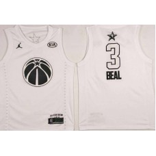 Men Washington Wizards 3 Beal White 2108 All Stars NBA Jerseys