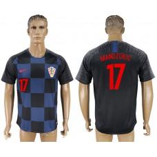 Men 2018 World Cup Croatia away aaa version 17 blue soccer jersey