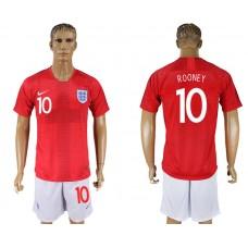 Men 2018 World Cup England away 10 red soccer jersey1