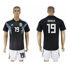 Men 2018 World cup Argentina away 19 black soccer jerseys