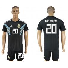 Men 2018 World cup Argentina away 20 black soccer jersey