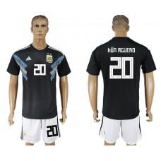 Men 2018 World cup Argentina away 20 black soccer jerseys