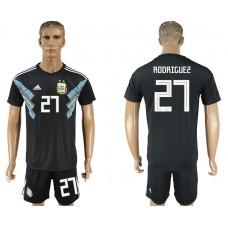 Men 2018 World cup Argentina away 27 black soccer jersey