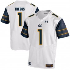 Men California Golden Bears 1 Bryce Treggs White Customized NCAA Jerseys1