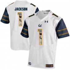 Men California Golden Bears 1 DeSean Jackson White Customized NCAA Jerseys1