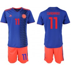 2018 World Cup Men Colombia away 11 soccer jersey