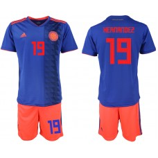 2018 World Cup Men Colombia away 19 soccer jersey