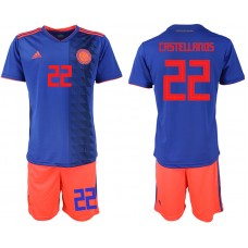 2018 World Cup Men Colombia away 22 soccer jersey