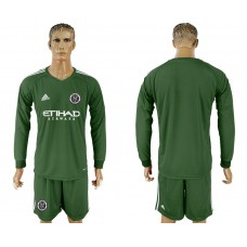 2018-2019 Club Men New York City army green long sleeve goalkeeper soccer jersey