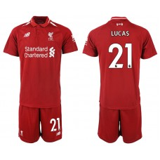 2018-2019 Men club Liverpool home 21 soccer jersey