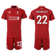 2018-2019 Men club Liverpool home 22 soccer jersey