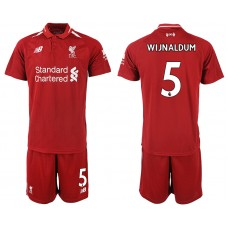 2018-2019 Men club Liverpool home 5 soccer jersey