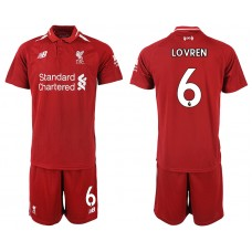 2018-2019 Men club Liverpool home 6 soccer jersey
