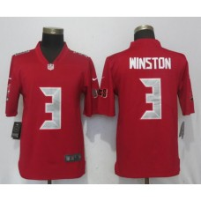 Men Tampa Bay Buccaneers 3 Winston Navy Red Nike Color Rush Limited NFL Jerseys