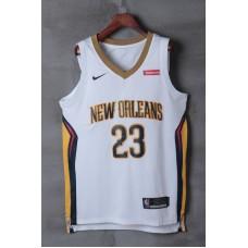 2018 Men New Orleans Pelicans 23 Davis white game jerseys