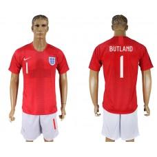 Men 2018 World Cup England away 1 red soccer jerseys