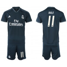 Men 2018-2019 club Real Madrid away 11 blue soccer jerseys