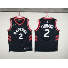 Men Toronto Raptors 2 Leonard Black Game Nike NBA Jerseys