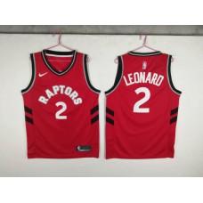 Men Toronto Raptors 2 Leonard Red Game Nike NBA Jerseys