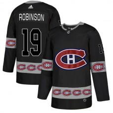 2018 NHL Men Montreal Canadiens 19 Robinson black jerseys