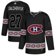 2018 NHL Men Montreal Canadiens 27 Galchenyuk black jerseys