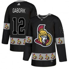 2018 NHL Men Ottawa Senators 12 Gaborik black jerseys