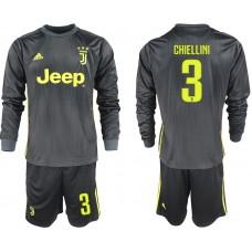 Men 2018-2019 club Juventus away long sleeves 3 black soccer jerseys