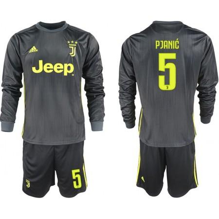 Men 2018-2019 club Juventus away long sleeves 5 black soccer jerseys